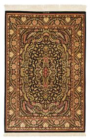 Ghom Silkki Allekirjoitettu: Ghom Mohammadi Matto 101X150 Itämainen Käsinsolmittu Tummanruskea/Ruskea (Silkki, Persia/Iran)