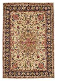 Tabriz Patina Matto 217X328 Itämainen Käsinsolmittu Ruskea/Tummanbeige (Villa, Persia/Iran)