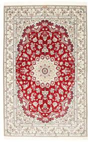 Nain 6La Habibian Matto 150X230 Itämainen Käsinsolmittu Vaaleanharmaa/Beige (Villa/Silkki, Persia/Iran)