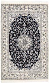 Nain 6La Habibian Matto 160X253 Itämainen Käsinsolmittu Vaaleanharmaa/Beige (Villa/Silkki, Persia/Iran)