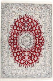 Nain 6La Habibian Matto 160X230 Itämainen Käsinsolmittu Vaaleanharmaa/Beige (Villa/Silkki, Persia/Iran)