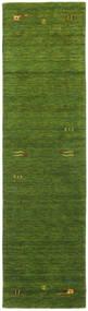 Gabbeh Loom Frame - Vihreä Matto 80X300 Moderni Käytävämatto Tummanvihreä/Oliivinvihreä (Villa, Intia)