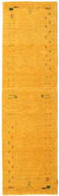 Gabbeh Loom Frame - Keltainen Matto 80X300 Moderni Käytävämatto Keltainen/Oranssi (Villa, Intia)