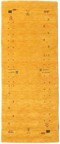 Gabbeh Loom Frame - Keltainen Matto 80X200 Moderni Käytävämatto Oranssi (Villa, Intia)