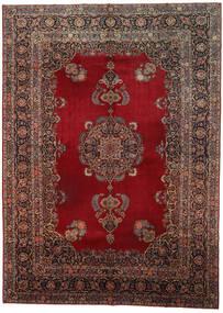 Keshan Matto 318X437 Itämainen Käsinsolmittu Tummanpunainen/Tummanruskea Isot (Villa, Persia/Iran)