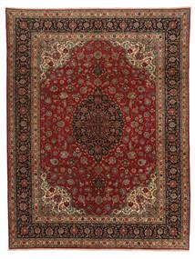 Ghom Kork Matto 298X390 Itämainen Käsinsolmittu Tummanruskea/Ruskea Isot (Villa, Persia/Iran)