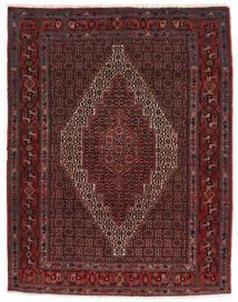 Senneh Matto 115X150 Itämainen Käsinsolmittu Tummanpunainen/Tummanruskea (Villa, Persia/Iran)