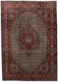 Moud Matto 210X303 Itämainen Käsinsolmittu Tummanpunainen/Tummanruskea (Villa/Silkki, Persia/Iran)