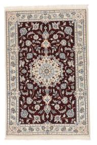 Nain 9La Matto 88X136 Itämainen Käsinsolmittu Valkoinen/Creme/Tummanpunainen/Beige (Villa/Silkki, Persia/Iran)