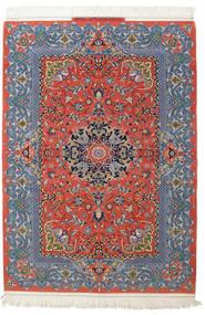 Isfahan Silkkiloimi Allekirjoitettu: Haghighi Matto 150X220 Itämainen Käsinsolmittu Tummanharmaa/Tummanpunainen (Villa/Silkki, Persia/Iran)