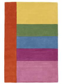 Colors By Meja Handtufted Matto 120X180 Moderni Vaaleanpunainen/Keltainen (Villa, Intia)