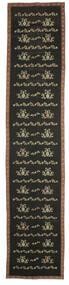 Kelim Bulgarian Matto 174X850 Itämainen Käsinkudottu Käytävämatto Tummanharmaa (Villa, Bulgaria)