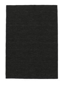 Kelim Loom - Musta Matto 250X350 Moderni Käsinkudottu Musta Isot (Villa, Intia)