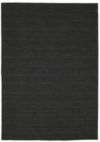 Kelim Loom - Musta Matto 220X320 Moderni Käsinkudottu (Villa, Intia)