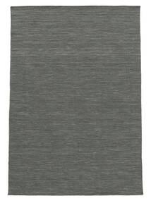 Kelim Loom - Tummanharmaa Matto 140X200 Moderni Käsinkudottu Tummanvihreä/Vaaleanharmaa (Villa, Intia)
