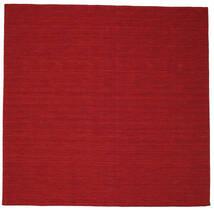 Kelim Loom - Tummanpunainen Matto 300X300 Moderni Käsinkudottu Neliö Punainen Isot (Villa, Intia)