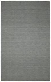 Kelim Loom - Tummanharmaa Matto 300X500 Moderni Käsinkudottu Tummanvihreä/Vaaleanharmaa Isot (Villa, Intia)