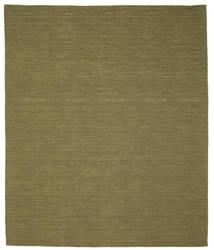 Kelim Loom - Oliivin Matto 250X300 Moderni Käsinkudottu Oliivinvihreä Isot (Villa, Intia)