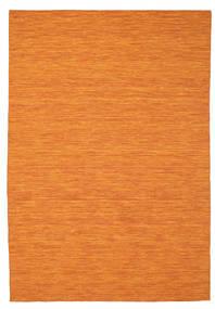 Kelim Loom - Oranssi Matto 200X300 Moderni Käsinkudottu Oranssi (Villa, Intia)