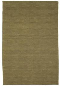 Kelim Loom - Oliivin Matto 0X0 Moderni Käsinkudottu Oliivinvihreä (Villa, Intia)