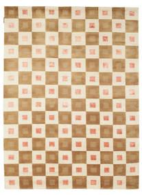 Himalaya Matto 164X212 Moderni Käsinsolmittu Beige/Tummanbeige/Vaaleanruskea (Villa, Intia)