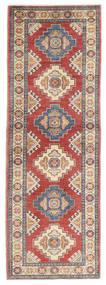 Kazak Matto 63X185 Itämainen Käsinsolmittu Käytävämatto Ruoste/Vaaleanharmaa (Villa, Pakistan)