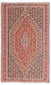 Kelim Senneh Matto 150X245 Itämainen Käsinkudottu Ruskea/Ruoste (Villa, Persia/Iran)