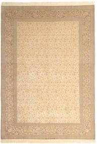 Isfahan Silkkiloimi Allekirjoitettu: Dardashti Matto 250X350 Itämainen Käsinsolmittu Beige/Vaaleanruskea Isot (Villa/Silkki, Persia/Iran)