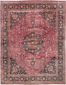 Mashad Allekirjoitettu: Akhondzadeh Matto 386X487 Itämainen Käsinsolmittu Tummanpunainen/Tummanruskea Isot (Villa, Persia/Iran)
