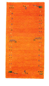 Gabbeh Indo Matto 73X143 Moderni Käsinsolmittu Oranssi (Villa, Intia)