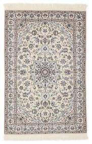Nain 6La Matto 103X153 Itämainen Käsinsolmittu Vaaleanharmaa/Beige/Valkoinen/Creme (Villa/Silkki, Persia/Iran)