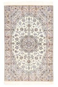 Nain 6La Matto 100X155 Itämainen Käsinsolmittu Beige/Vaaleanharmaa (Villa/Silkki, Persia/Iran)