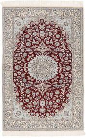 Nain 6La Matto 103X163 Itämainen Käsinsolmittu Beige/Vaaleanharmaa (Villa/Silkki, Persia/Iran)