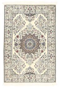 Nain 6La Matto 100X150 Itämainen Käsinsolmittu Beige/Vaaleanharmaa (Villa/Silkki, Persia/Iran)
