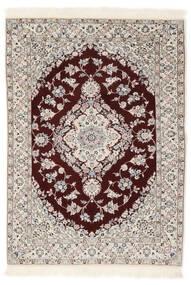 Nain 6La Matto 102X153 Itämainen Käsinsolmittu Valkoinen/Creme/Vaaleanharmaa (Villa/Silkki, Persia/Iran)