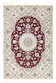 Nain 6La Matto 102X152 Itämainen Käsinsolmittu Beige/Vaaleanharmaa (Villa/Silkki, Persia/Iran)