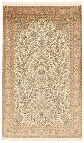 Kashmir 100% Silkki Matto 94X158 Itämainen Käsinsolmittu Tummanbeige/Beige (Silkki, Intia)