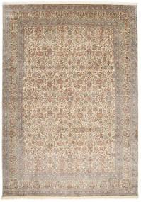 Kashmir 100% Silkki Matto 245X347 Itämainen Käsinsolmittu Vaaleanharmaa/Vaaleanruskea (Silkki, Intia)