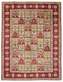 Yazd Matto 298X383 Itämainen Käsinsolmittu Tummanruskea/Vaaleanruskea Isot (Villa, Persia/Iran)