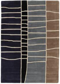 Abstract Bamboo Handtufted Matto 160X230 Moderni Tummanvioletti/Vaaleanharmaa (Villa, Intia)