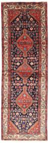 Hamadan Matto 102X305 Itämainen Käsinsolmittu Käytävämatto Tummanpunainen/Ruskea (Villa, Persia/Iran)