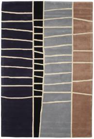 Abstract Bamboo Handtufted Matto 200X300 Moderni Tummanvioletti/Vaaleanharmaa (Villa, Intia)