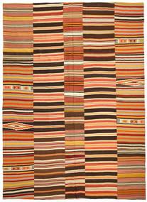 Kelim Patchwork Matto 255X360 Moderni Käsinkudottu Punainen/Tummanruskea Isot (Villa, Turkki)