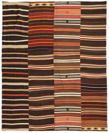 Kelim Patchwork Matto 242X298 Moderni Käsinkudottu Tummanruskea/Punainen (Villa, Turkki)