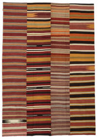 Kelim Patchwork Matto 240X340 Moderni Käsinkudottu Ruoste/Oranssi (Villa, Turkki)