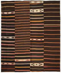 Kelim Patchwork Matto 250X300 Moderni Käsinkudottu Tummanruskea/Tummanpunainen Isot (Villa, Turkki)