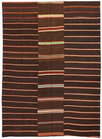Kelim Patchwork Matto 175X241 Moderni Käsinkudottu Tummanruskea/Tummanpunainen (Villa, Turkki)