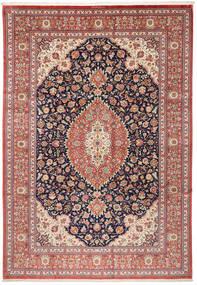 Ghom Silkki Matto 240X348 Itämainen Käsinsolmittu Ruskea/Beige (Silkki, Persia/Iran)