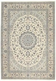 Nain 6La Matto 247X355 Itämainen Käsinsolmittu Vaaleanharmaa/Beige (Villa/Silkki, Persia/Iran)