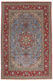 Isfahan Silkkiloimi Matto 203X315 Itämainen Käsinsolmittu Tummanharmaa/Tummanpunainen (Villa/Silkki, Persia/Iran)